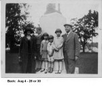 Bertha Richards, William Sedelbauer, Bill Schaub, Dorothy Wagner, Phyllis Schaub, Virginia Wagner,  Aug 4 1928 or 1930