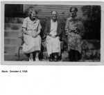 Unknown9 -Bertha Richardson and 2 unknown,  Oct 4, 1936